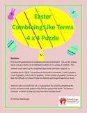 Easter Math Puzzle - Combining Like Terms
