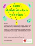 Easter Math Puzzle - Multiplication Facts Puzzle