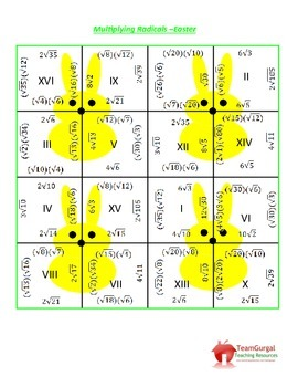 Easter Math Puzzle - Multiplying Radicals
