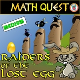 Easter Math Quest Activity: Raiders of The Lost Egg (MEDIUM LEVEL)