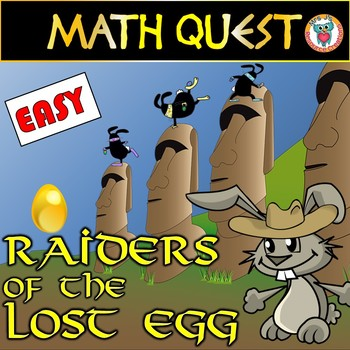 Easter Math Quest Activity: Raiders of The Lost Egg (EASY LEVEL)
