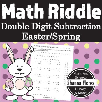 Easter - Math Riddle - Double Digit Subtraction Worksheet - Fun Math