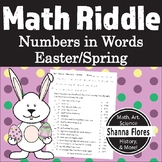 Easter Math Riddle - Numbers Written in Words - Fun Math