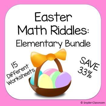 Easter Math Riddles: Elementary Bundle