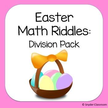 Easter Long Division Math Riddles