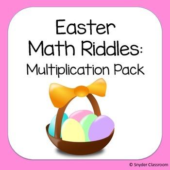 Easter Multiplication Math Riddles
