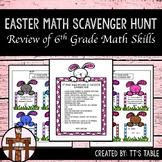Easter Math Scavenger Hunt 6th Grade