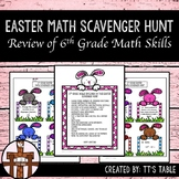 Easter Math Scavenger Hunt 6th Grade