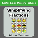 Easter Math: Simplifying Fractions - Color-By-Number Myste