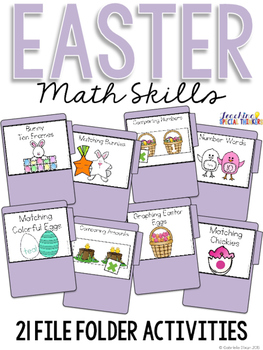 Easter Math Skills File Folder Tasks (19 Tasks Included)