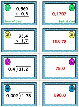 Spring Math Skills & Learning Center (Multiply & Divide Decimals)