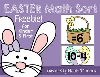 Easter Math Sort Freebie