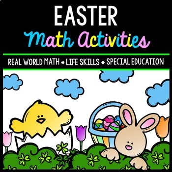 Easter Math - Special Education - Life Skills - Print & Go - Spring - Jelly Bean