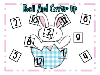 """Easter Math Station """"Roll And Cover Up!"""""""