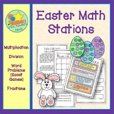 Easter Math - Multiplication, Division, Word Problems and Place Value