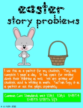 Easter Math Story Problems