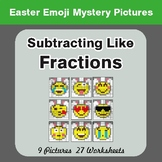 Easter Math: Subtracting Like Fractions - Color-By-Number