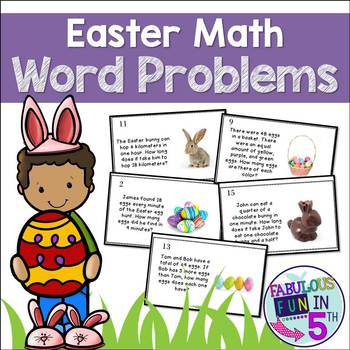 Easter Math Task Cards - Word Problems