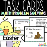 Easter Math Task Cards SCOOT 3rd 4th Grade TEKS CCSS