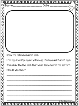 Easter Math Tasks
