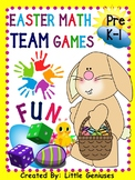Easter Themed Math Team Games For  Pre-K and First Graders