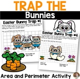 Easter Math- *Trap the Easter Bunnies* Perimeter and Area Activity
