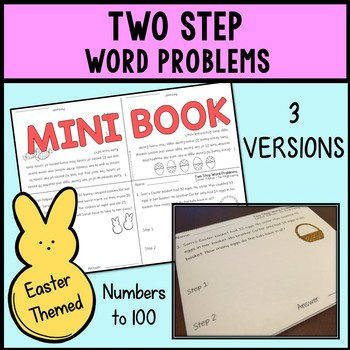 Easter Math - Two Step Word Problems Mini Book