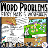 Easter Math Word Problem Story Mats - addition & subtraction within 10
