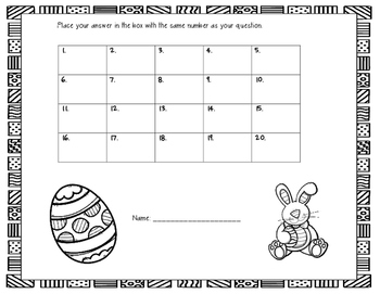 Easter Math Word Problem Task Cards (2nd grade)