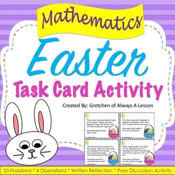Easter Math Word Problem Task Cards
