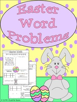 Easter Math Word Problems (K-2)