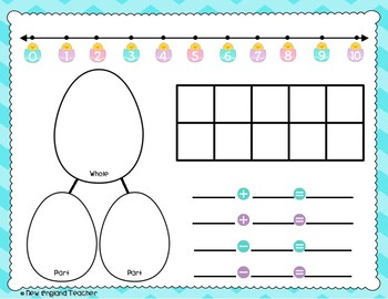 Easter Math Work Mats for Common Core Math with Numbers 1-10 and 1-20