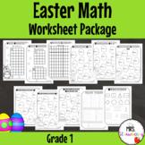Easter Math Worksheet Package - Grade 1