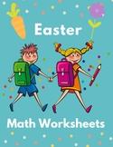 Easter Math Worksheet for Kindergarten, 1st and 2nd Grades