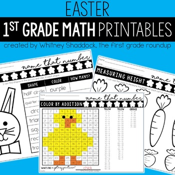 Easter Math Worksheets Teaching Resources | Teachers Pay Teachers