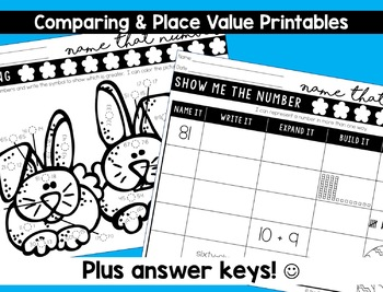 Easter Math Worksheets DISTANCE LEARNING