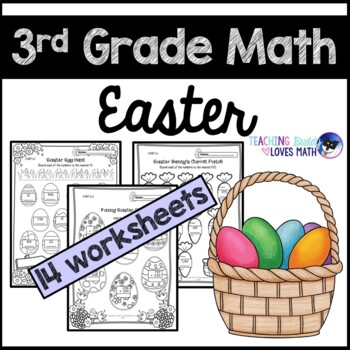 Easter Math Worksheets 3rd Grade Common Core by Teaching Buddy ...