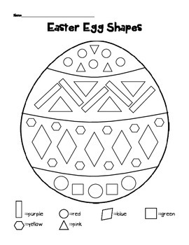Easter Math Worksheets (Identifying Shapes and Counting)