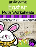 Easter Math Worksheets for Kindergarten - Numbers to 20