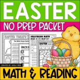 Easter Math and Easter Reading Bundle - Easter Activities and Easter Worksheets