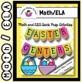 Easter Math and ELA Quick Prep Centers Bundle