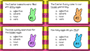 Easter Math and Grammar Task Card BUNDLE