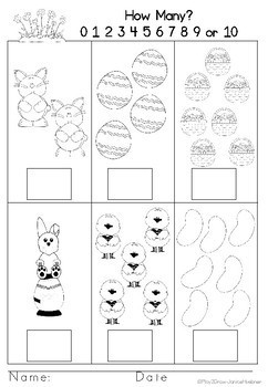 Easter Math and Literacy Activities FREE SAMPLE