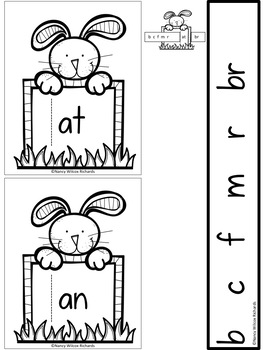 Easter Math and Literacy Activities (Includes Word Families and rubric)