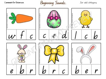 Easter Math and Literacy Activities Pre K