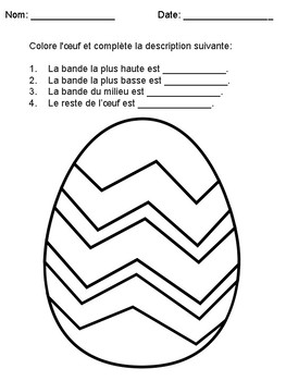 Easter Math and Literacy (French)