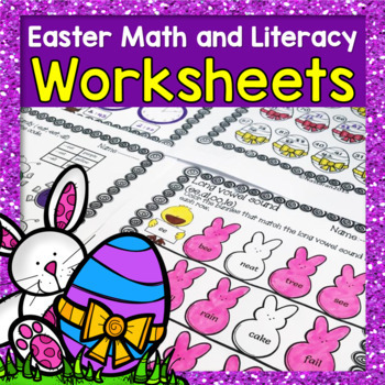 Easter Activities 1st Grade : Math and Literacy Worksheets