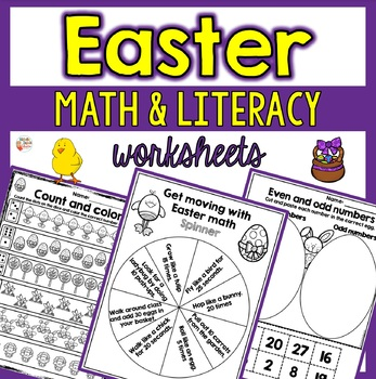 Easter Math and Literacy Printables    ---   20 Printables