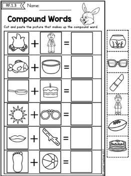 Easter Math and Literacy Worksheets (1st Grade Bundle) (Distance Learning)