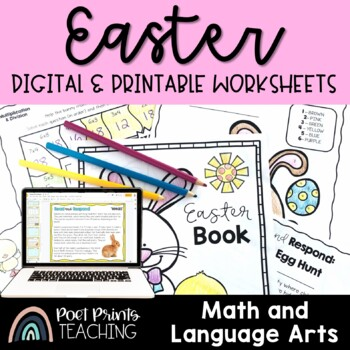 Easter Math and Writing, No Prep Pack